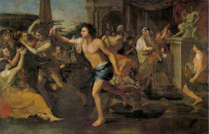 ภาพวาด-Painting illustrating the festival of Lupercalia