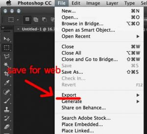 photoshop-save for web-library