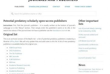 แหล่งสารสนเทศเพื่อการตีพิมพ์-ไม่ควรลงตีพิมพ์ ผลงานวิจัย/วิชาการ