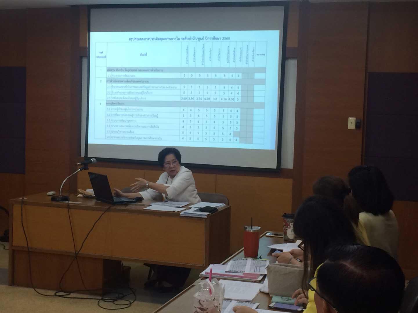 ประชุมแลกเปลี่ยนเรียนรู้ (KM): พัฒนาตัวบ่งชี้การประเมินคุณภาพภายในระดับสำนัก/ศูนย์