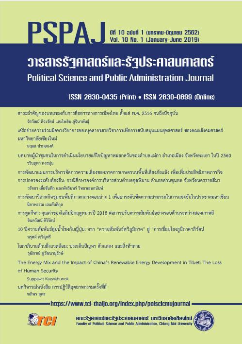 วารสารรัฐศาสตร์และรัฐประศาสนศาสตร์