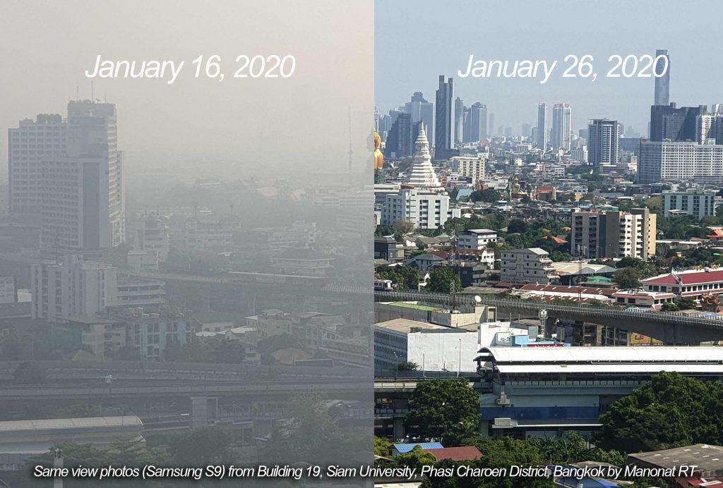 pm2.5 ฝุ่นมลพิษ ฝุ่นกรุงเทพ มหาวิทยาลัยสยาม