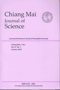 Chiang Mai Journal of Science