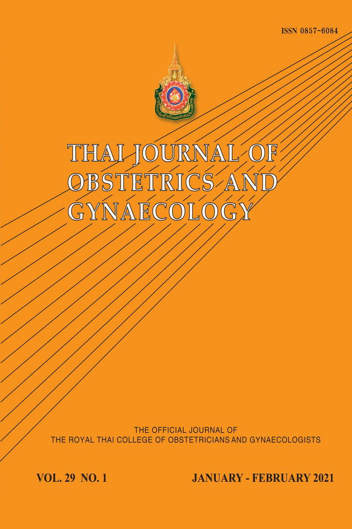 Thai Journal of Obstetrics and Gynaecology
