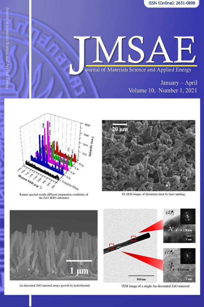 Journal of Materials Science and Applied Energy