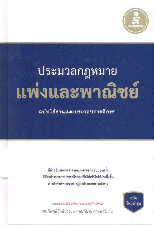 ห้องสมุด แนะนำหนังสือ ประมวลกฎหมายแพ่งและพาณิชย์ ฉบับใช้งานและประกอบการศึกษา