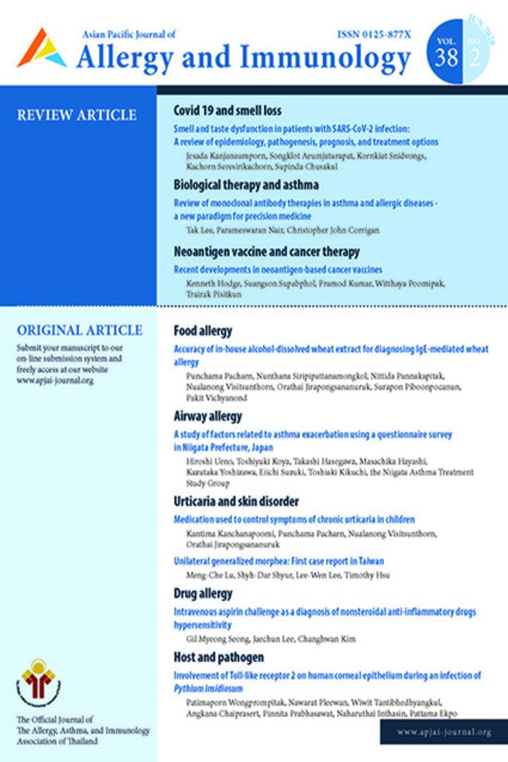 Asian Pacific Journal of Allergy and Immunology