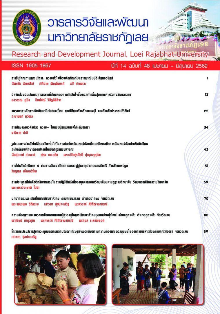 วารสารวิจัยและพัฒนามหาวิทยาลัยราชภัฏเลย